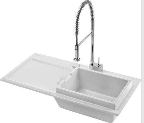 duravit starck k ceramic drop in kitchen sink modern