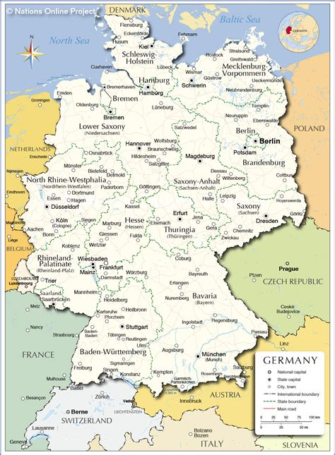 map germany administrative map of germany nations project
