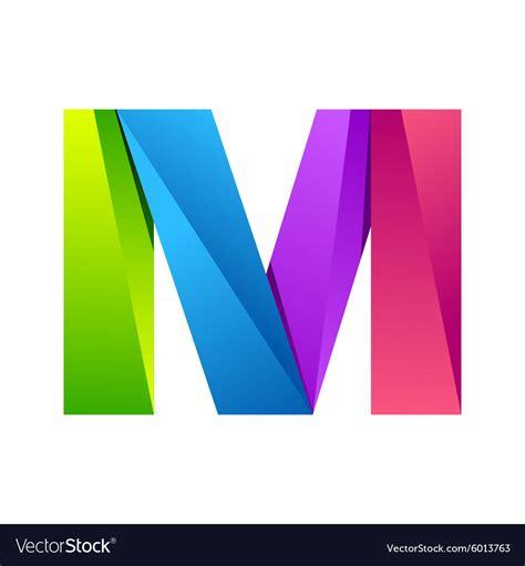 letter colorful logo design template vector image