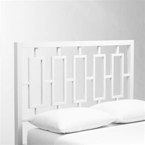 headboard white window headboard white west elm