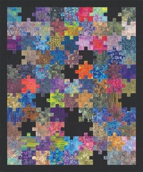 Jigsaw Puzzle Quilt Pattern by Puzzling Pieces Jigsaw Puzzle Quilt Quilts