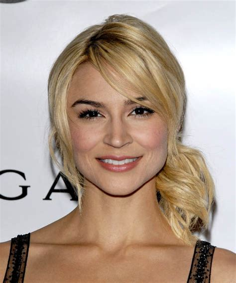 samaire armstrong short hair samaire armstrong long straight casual half up hairstyle