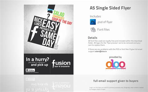 free templates for a5 flyers business lunch a5 flyer design psd template by