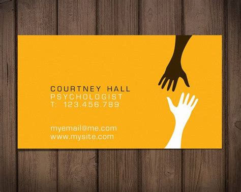Free Psychology Business Cards Templates by Premade Business Card Design Therapist Card Quot