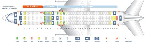 seat selection american airlines boeing 767 300 seat map my