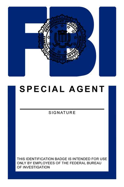 fbi id template 7 best images of id badges templates printable printable
