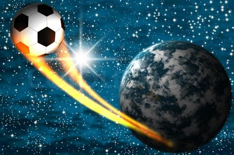 is there color in space the football has departed from a planet to space sky