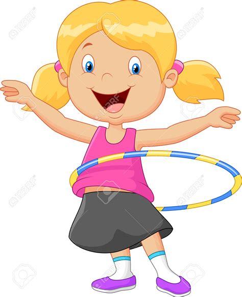dibujos de niños jugando ula ula hula hoop cartoon clip art 62