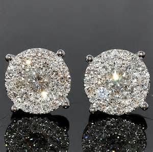 big earing stud earring 185ctw xl big cluster large solitaires earring diamantbilds