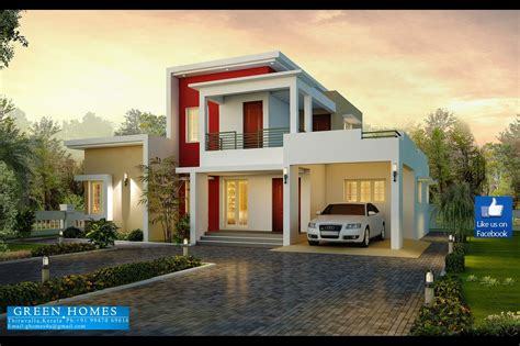 Green Home House Plans by Green Homes Contemporary Model House In 2100 Sq