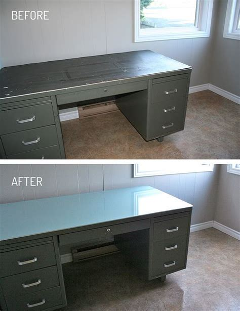 25  best ideas about Metal desk makeover on Pinterest