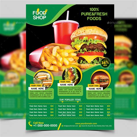 Food Flyer Template By Aam360 Graphicriver Food Flyers Templates