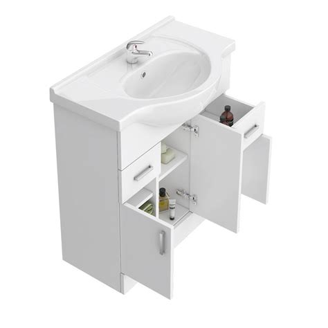 bathroom suites with vanity unit cove 1250mm vanity unit bathroom suite tap high gloss white depth 330mm