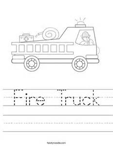 fire truck worksheet twisty noodle
