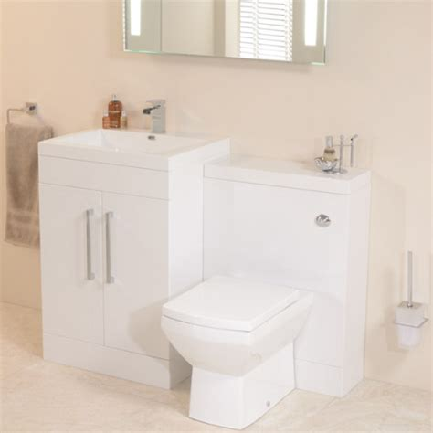 Bathroom Combination Furniture Td60 Luxury White Combination Unit With Tabor Pan
