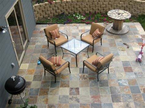 How To Tile A Patio by Slate Tile Bartblog