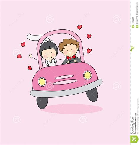 Just Married Auto Grafik by Just Married On Car Driving To Their Honeymoon Royalty