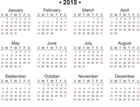Free Printable 2018 Calendar Template Word Excel Free Calendar 2018 Template