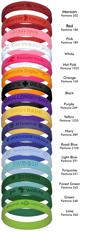 rubber bracelets color meanings search engine at