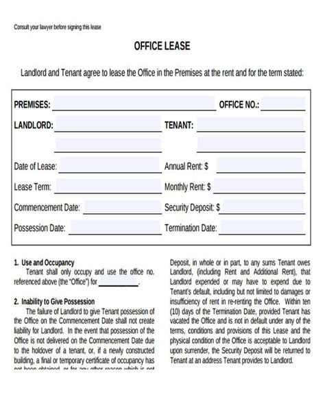lease agreement for office space template office space lease agreement template 28 images sle of