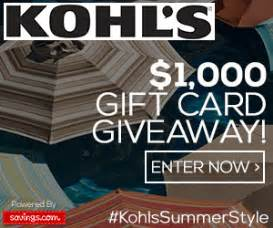 Kohl Gift Card At Walgreens - kohl s 1 000 gift card giveaway