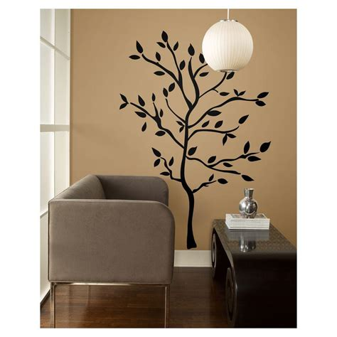 home depot wall decor 19 in tree branches peel and stick wall decals rmk1317gm