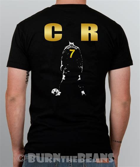 Tshirt Ronaldo Black ronaldo t shirt cristiano cr7 real madrid portugal s 5xl