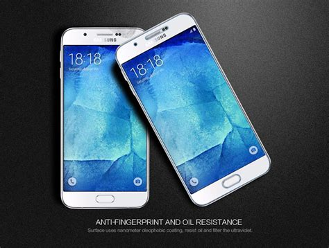 Nillkin Frosted Shield Samsung Galaxy A8 A8000 Hitam nillkin amazing pe tempered glass screen protector for