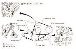 97 nissan pathfinder the serpentine belt drive belt se diagram