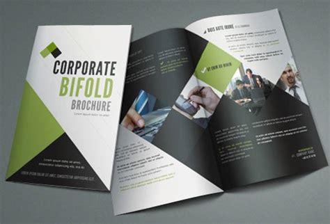bi fold brochure templates free free modern and professional brochure design templates