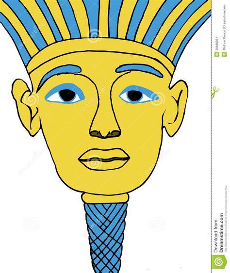 printable egyptian mask egyptian face mask illustration stock vector image 20686951