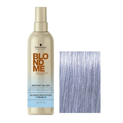schwarzkopf professional blond me blonde toning steel schwarzkopf blondme instant blush toner do włos 243 w 250ml