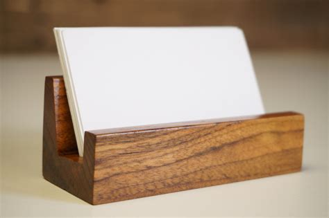 business card holder business card stand rustic office