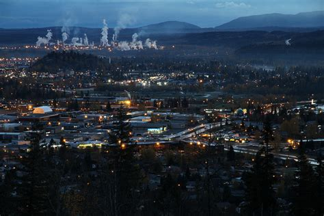 prince george bc just before sunrise this morning in