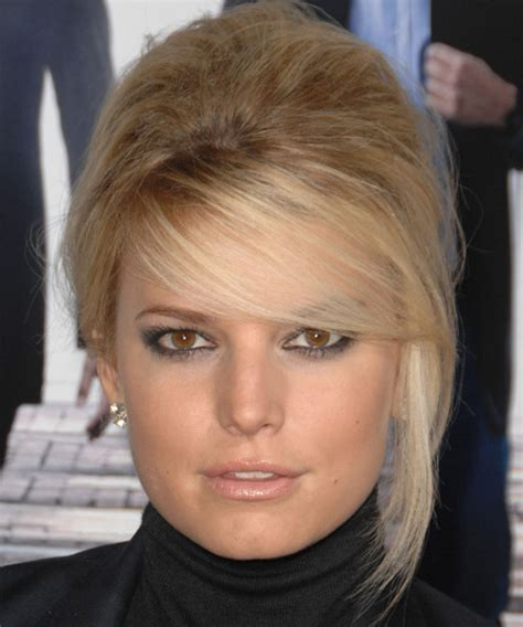 jessica simpson hairstyles with bangs jessica simpson updo long straight formal wedding updo