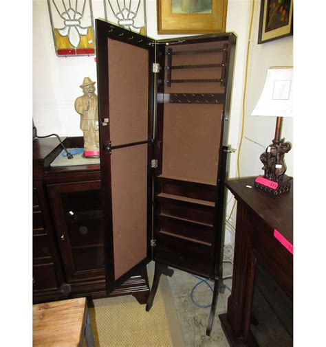 used jewelry armoire mirrored jewelry armoire used