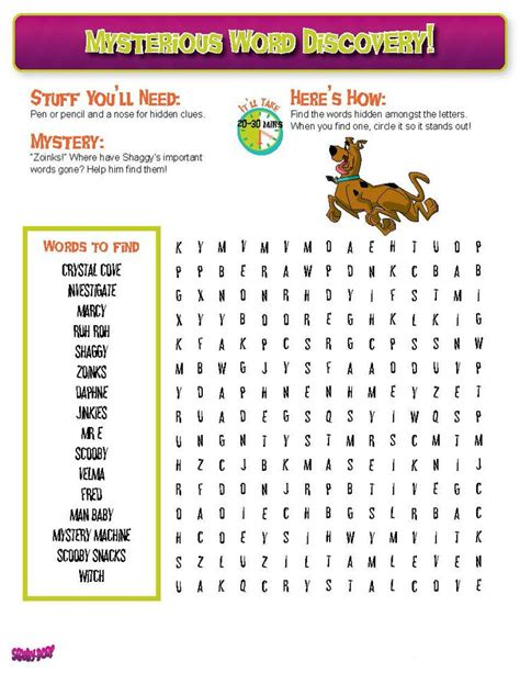 printable scooby doo activity sheets 10 best images about scoobydoo2 doo on pinterest
