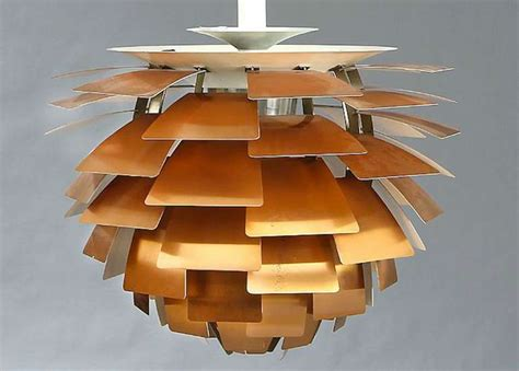 Earth Home Decor first edition copper poul henningsen artichoke lamp image 3