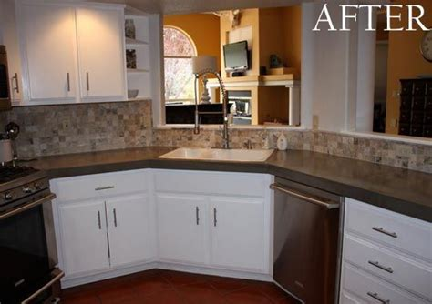 Diy Poured Concrete Countertops by Before After Poured Concrete Countertops Design Stocker