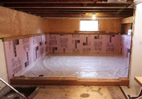 basement progress: concrete pour : CHEZERBEY