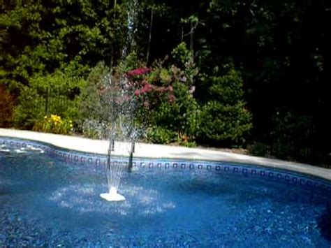inground pool fountains pool fountain video youtube