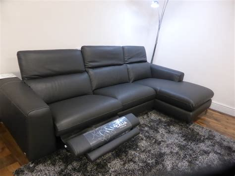 Calia Italia Leather Sofa Calia Italia Supremo Power Reclining High Grade Leather Chaise Sofa Furnimax Brands Outlet