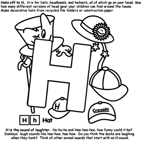 crayola coloring pages letters alphabet h coloring page crayola com