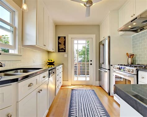 ideas for narrow kitchens 4 decorating ideas how to make a galley kitchen look