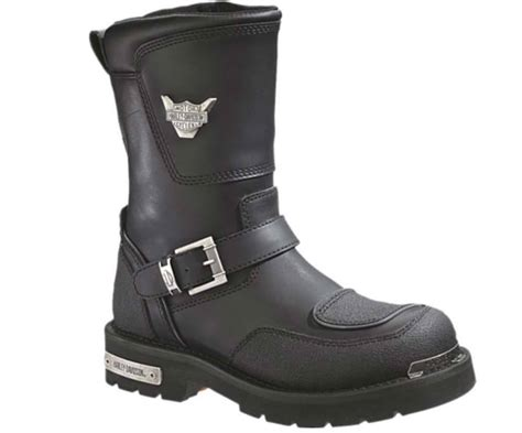 mens motorbike boots harley davidson men s shift engineer zip black 9 inch
