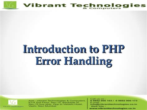 php tutorial error handling introduction to error control codes saslvatore gravano pdf