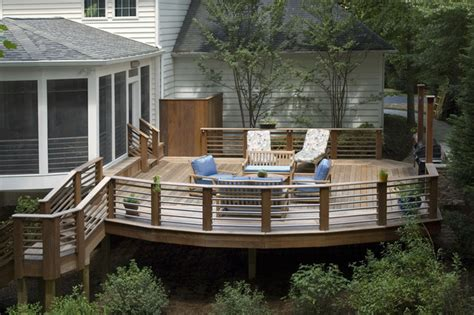patio deck ideas and pictures rubin screened porch and sun deck traditional deck