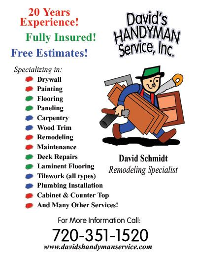 Sle Handyman Flyers Flyer Template Images Fly With Contractors Flyer Templates Constru Free Handyman Templates
