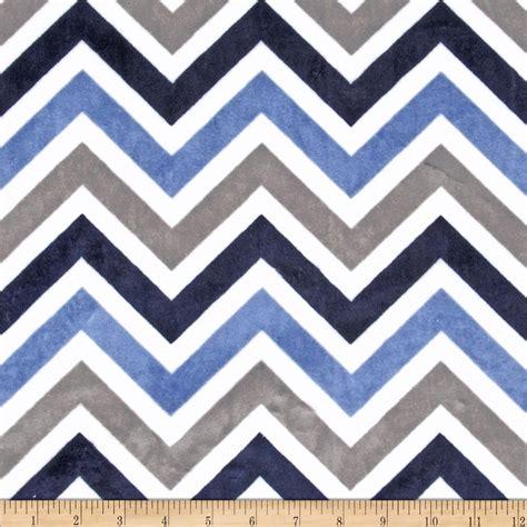zig zag pattern upholstery fabric shannon minky cuddle zig zag navy denim ivory discount