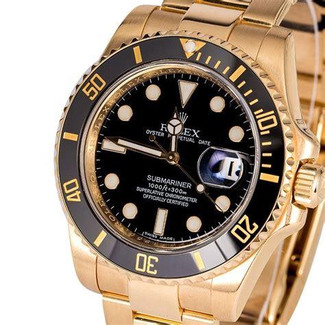 Rolex Black Gold used rolex submariner 18k gold 116618
